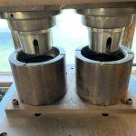 Two cavity float valve body mold